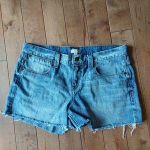J. Crew distressed jean cutoff shorts